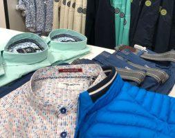 Jacke blau und Hemd