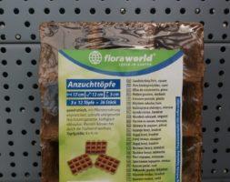 Floraworld Anzuchttöpfe 4*4cm 36 St.