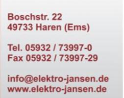 Homepage Elektro Jansen
